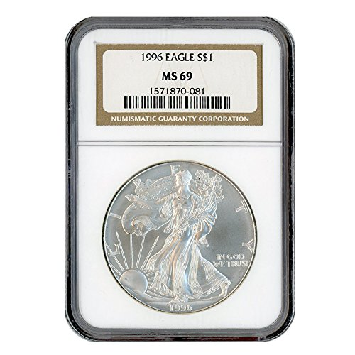 1996 American Silver Eagle 1 MS69 NGC