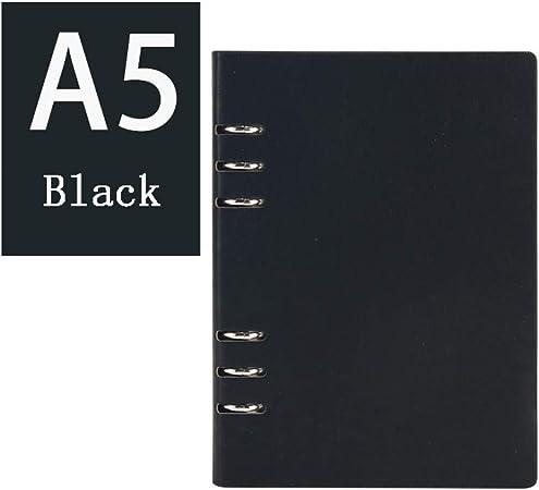 LFNIU El Estuche de Cuero Blando Retro de Office Business Notebook, Puede llenar Hojas Sueltas/Bloc de Notas, Diario de Viaje, Regalo Creativo, tamaño B5 / A5 / A6: Amazon.es: Hogar