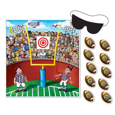Pin The Ball Football Game (mask & 10 footballs included) Party Accessory  (1 count) (1/Pkg)]()