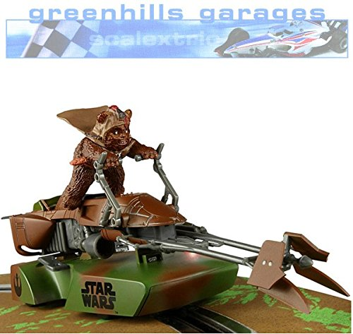 Scalextric 1:32 Star Wars 74-Z Speeder Bike - Paploo Ewok (C3299) -