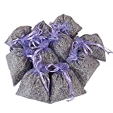 RakrisaSupplies 11 Purple Bags Pack of 15 | Natural Deodorizer, Moth Repellent, Highest Fragrance Lavender Scent Sachets | LS-001