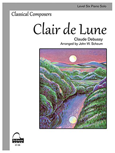 Clair de Lune: Schaum Level Six Piano Solo (Schaum Publications Sheet Solo) ()