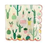 Southwest Cacti Themed Scalloped Edge 20 Pack Novelty Paper Party Beverage Luncheon Napkins (6.25 x 6.25)