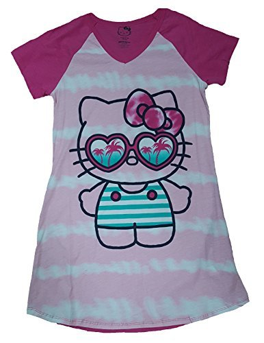 - Hello Kitty Pink Nightgown Long Sleep Shirt - L/XL