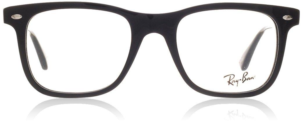 Ray-Ban Men's RX5248 Eyeglasses Shiny Black 49mm