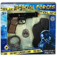 Gonher - Coffret police,  pistolet 8 coups (425/6)