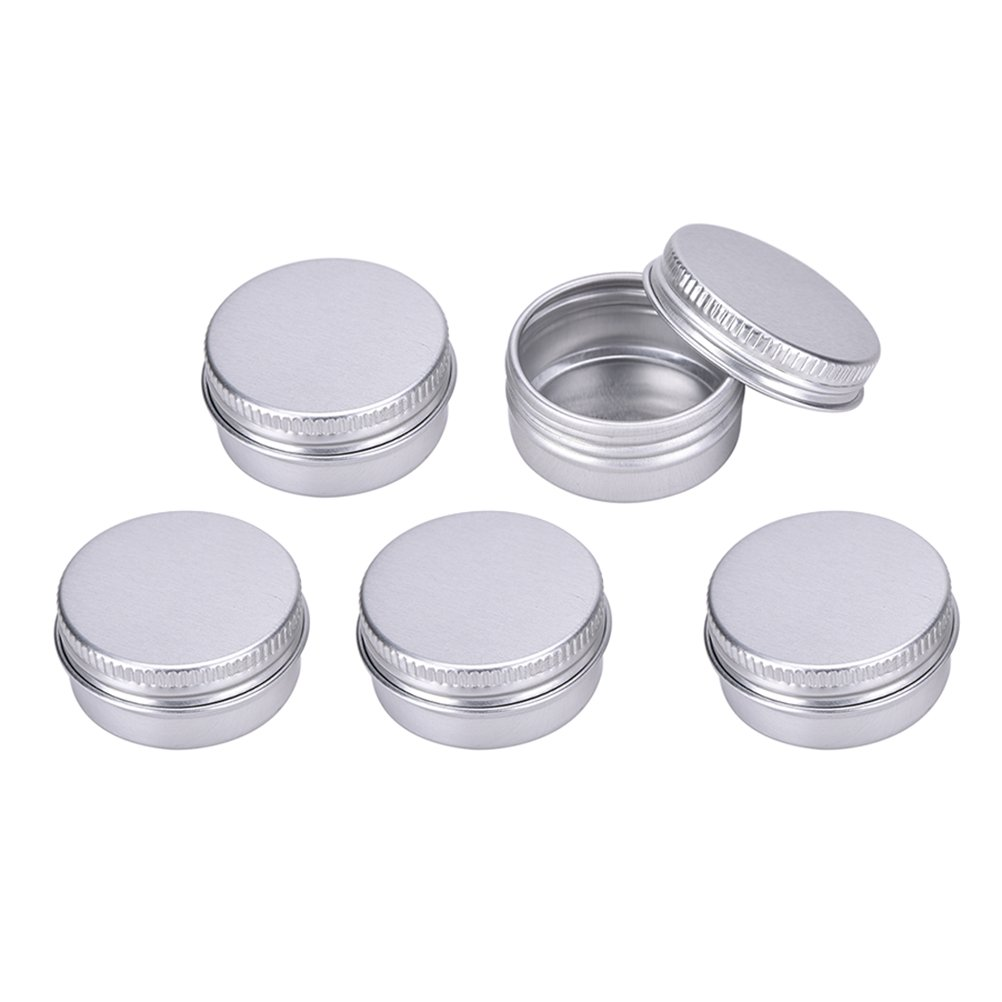 SevenMye 10 Pcs Aluminum Empty Lip Balm Cosmetic Travel Bottles Containers for Candy,Mints,Vitamins and DIY Face Cream Storage Large vision