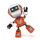 DraWaoy Mini Intelligent Robot for Kids - Alloy Touch Sensing Robot for Boys, Girls Aged 3 Above(Orange)
