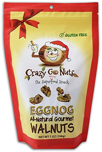 Crazy Go Nuts Flavored Walnuts & Healthy Snacks: Gluten Free, 7oz - EggNog