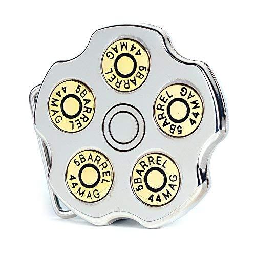 - Buckle Rage Adult Unisex Spinning Revolver Cylinder Bullet Belt Buckle Silver