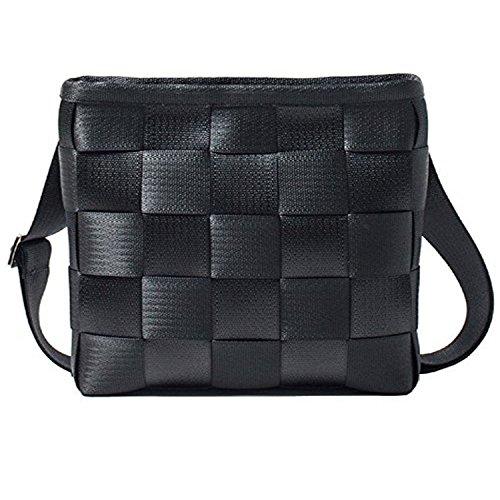 Harveys Women's Seatbelt Mini Messenger Bag (Salvage Black) (Seat Belt Bag Mini)