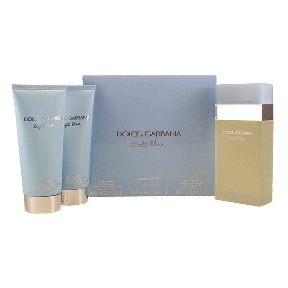 DOLCE GABBANA Light Blue 3 Piece Eau De Parfums Set for Women