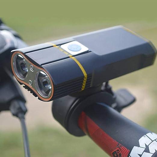 GUAN - Faro para Bicicleta (Cargador USB, conducción Nocturna ...