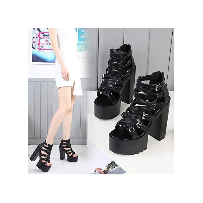 Show Shoes Donna T La Duuqili Nuova Super Estivi Platform Nightclub Passerella Romana Sandali Da Di Scarpe Stage Spessore Tacco Con Alto