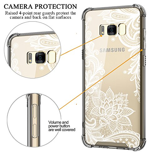 Galaxy S8 Plus Case,Cutebe Shockproof Hard PC+ TPU Bumper Case Scratch-Resistant Cover for Samsung Galaxy S8 Plus (2017) Lace Flower