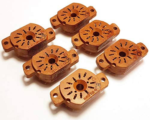 Socket for Nixie Tubes Military Version IN-12A, IN-12B, IN-15A, IN-15B, IV-22, New 6 pcs ()