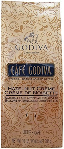 Cafe Godiva Hazelnut Ground Arabica Coffee 10 Oz