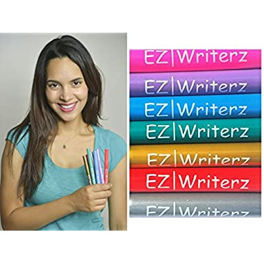 Wine Glass Markers Set of 7 Metallic Pens - Write on any Glassware - Alternative To Party Wine Charms - Draw & Personalize your Drinks - Vibrant Metallic Colors
