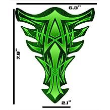 Pinstripe Green Suzuki GSXR Yamaha YZF Honda CBR Kawasaki Ninja Triumph Motorcycle sportbike Tank Pad Protector guard gel decal