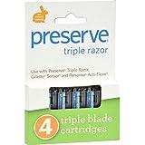 Preserve Triple Razor Refills - 4 PK,(Preserve)