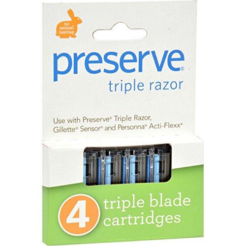 Triple Refill - Preserve Triple Razor Refills - 4 PK,(Preserve)