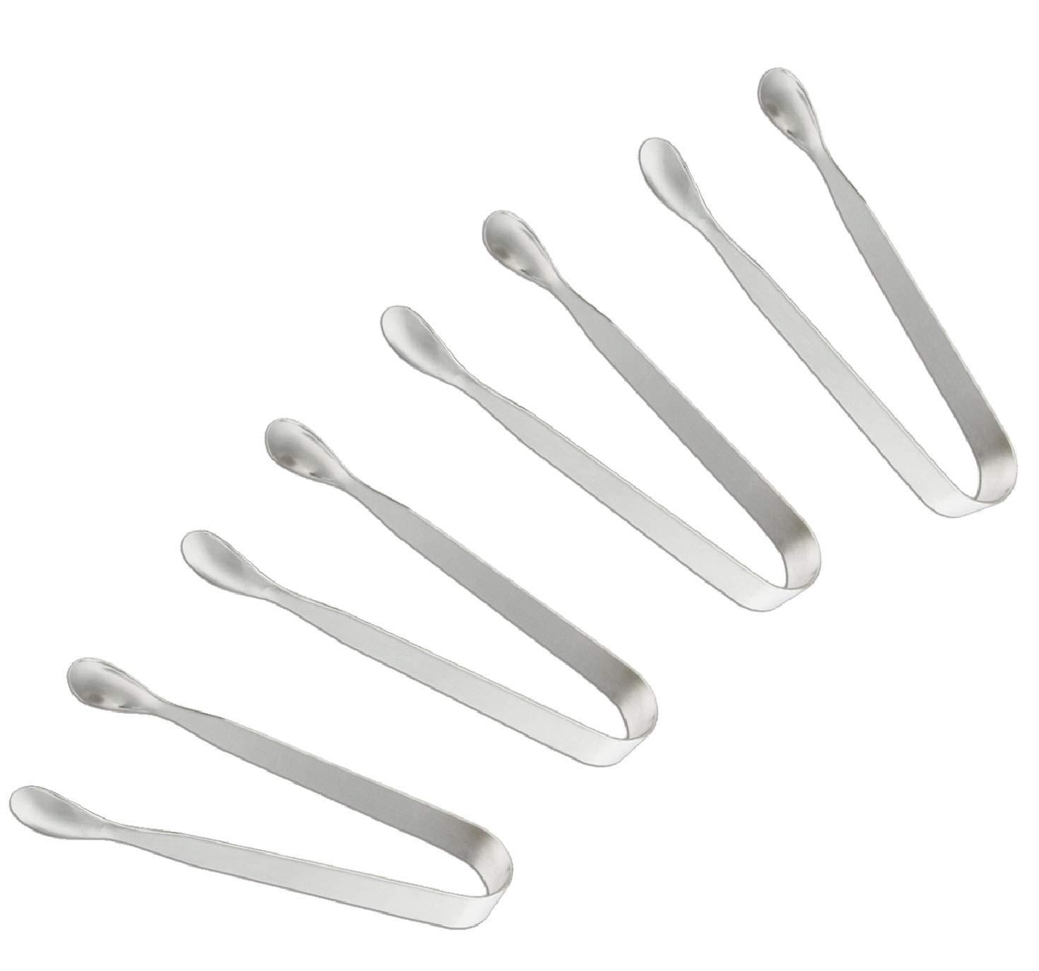 "SOLEADER Serving Tongs, Serving Utensils for Catering, Kitchen Tongs, Food-Grade Premium 304 Stainless Steel Tongs, Heavy Duty (4.5"" Appetizer Tongs)"