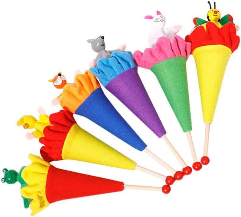 STOBOK Marionnettes /à Doigt Animaux Jouets /à Doigts Cacher Et Chercher des Jouets pour Animaux pour Enfants 6Pcs