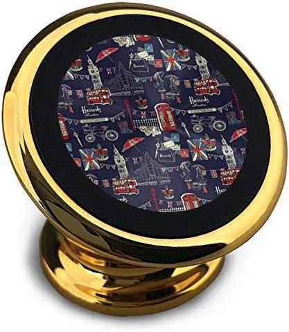 イギリス旅行 携帯電話ホルダー おしゃれ 車載ホルダー 人気 磁気ホルダー 大きな吸引力 サポートフレーム 落下防止 360度回転