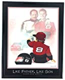 Nascar Dale Earnhardt Sr and Jr Print Artwork Framed F6592A