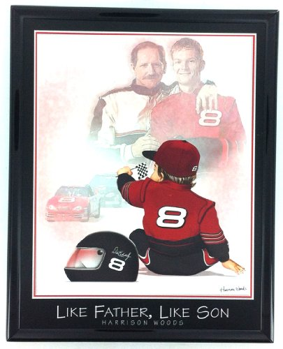 Prints Earnhardt Dale - Nascar Dale Earnhardt Sr and Jr Print Artwork Framed F6592A