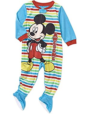 Mickey Mouse Footed Pajama Blanket Sleeper Baby Boys' 24 Months Blue