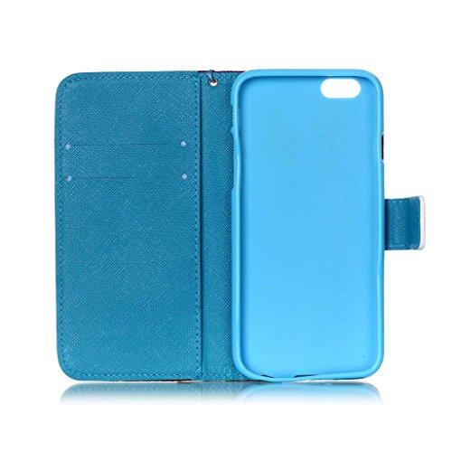 """iPhone 6 Plus 5.5"""" Coque , Apple iPhone 6 Plus 5.5"""" Coque Lifetrut® [ ailes d'anges ] [Wallet Fonction] [stand Feature] Magnetic snap Wallet Wallet Prime Flip Coque Etui pour Apple iPhone 6 Plus 5.5"""""""