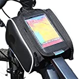 WEANAS Bicycle Cycling Bike Frame Pannier Bag Rack Top Tube Saddle Bag Double Side with Mobile Phone Pouch for Iphone 6 6 Plus Samsung S5 S6