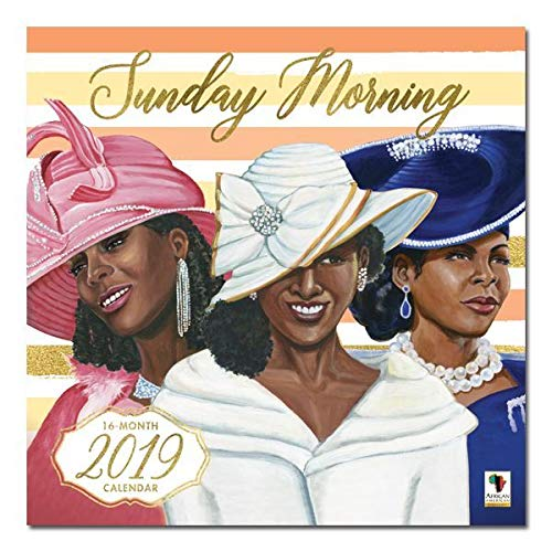 "Office Products : African American Expressions - 2019 Sunday Morning 12 Month Calendar (12"" x 12"") WC-171"