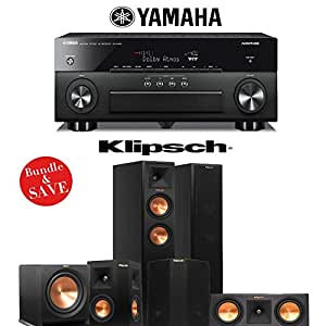Klipsch RP-250F Reference Premiere 5.1 Home Theater System with Yamaha RX-A860BL A/V Receiver