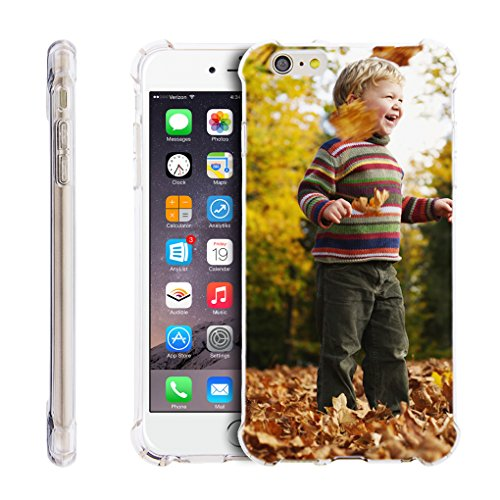 Clear iPhone 6 Plus/6S Plus Case,Personalzied Custom Picture Cellphone Case, DIY HD Print Photo Transparent Cover Case Soft Thin Slim Shock Absorbing Rubber Silicone Gel Cover Protective Bumper Case