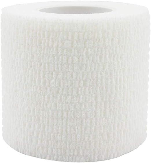 Risscly Blanc 5cm bandage coh/ésifs auto bande coh/ésive,pansements bande cohesive adhesive bandages 12 rouleaux