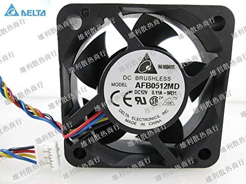 for delta AFB0512MD 12V 0.11A 5CM 5020 4 wire PWM fan speed control cooling fan