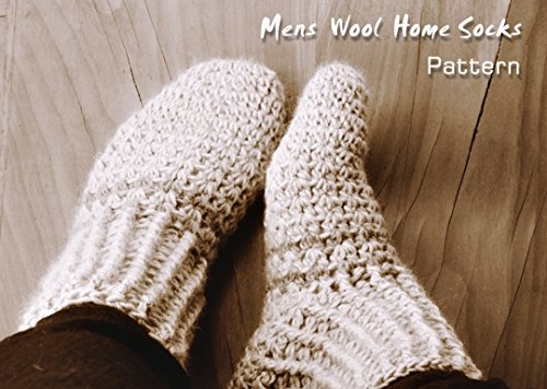 Mens Wool Home Socks Crochet Pattern (Crochet Slipper Sock Pattern)