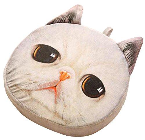Cat Oreiller lavable Coussin cadeau de Noël Fashion oreiller blanc A