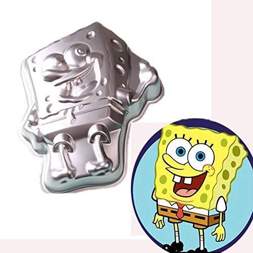 11 Inch Sponge baby aluminum 3D cake mold baking mold tin cake plate - SpongeBob ()