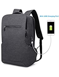 Tocode Laptop Backpack, Business Bags with USB Charging Port New Design Bookbag for 15.6-inch Laptop