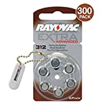 Rayovac Extra Advanced Hearing Aid Batteries Size 312 (300 Batteries) + Keychain