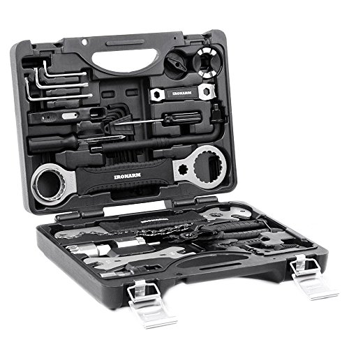 (IRONARM Best Value Professional Bicycle Tool Kit Professional Tool Kit. Good Bicycle Repair Tools, Wrench, Chain, Spanner, Allen Key Set and More.)
