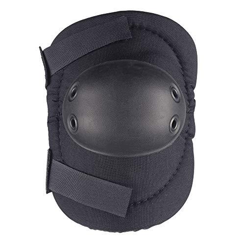 (ALTA 53010.00 AltaFLEX Elbow Protector Pad, Black Cordura Nylon Fabric, AltaGrip Fastening, Flexible Cap, Round, Black (One Pair))