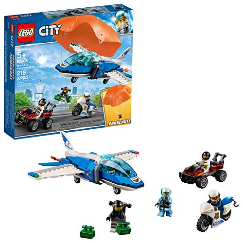 - LEGO City Sky Police Parachute Arrest 60208 Building Kit , New 2019 (218 Piece)