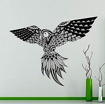 Yologg 53X42 Cm Patrón De Plumas De Ave Tatuajes De Pared Loros Aves Exóticas Vinilo Sticker Home Interior Wall Art Decor Decoración Del Hogar Diy: ...