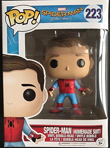 Funko POP Spider-Man Homecoming Walmart Exclusive Spider-Man Homemade Suit Unmasked #223