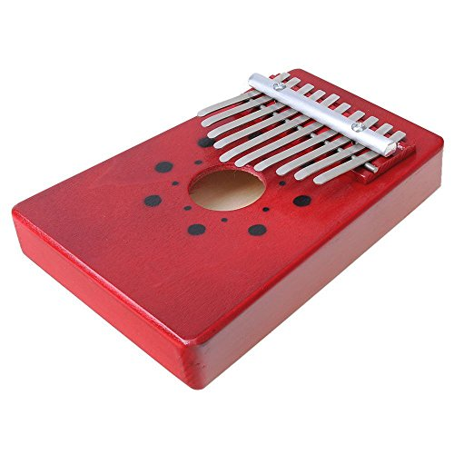Luvay Kalimba Thumb Piano Mbira, Finger Piano African Instrument (10keys-Red)