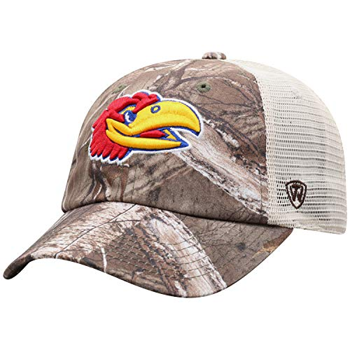 - NCAA Kansas Jayhawks Men's Camo Stock Adjustable Mesh Icon Hat, Real Tree
